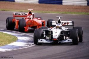 Mika Häkkinen (McLaren) and Michael Schumacher (Ferrari)