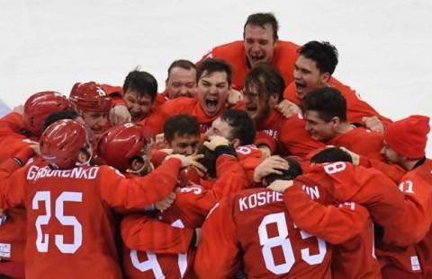 Rusia aur la hochei pe gheata